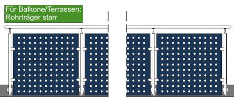edelstahlgel nder 4 meter zur seitlichen befestigung. Black Bedroom Furniture Sets. Home Design Ideas