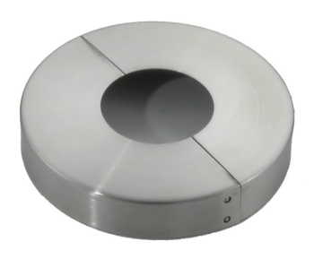 Abdeckrosette 60 // 12,5 mm Höhe ca V2A 12 mm