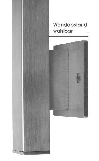 balkonpfosten 40 x 40 mm aus edelstahl. Black Bedroom Furniture Sets. Home Design Ideas